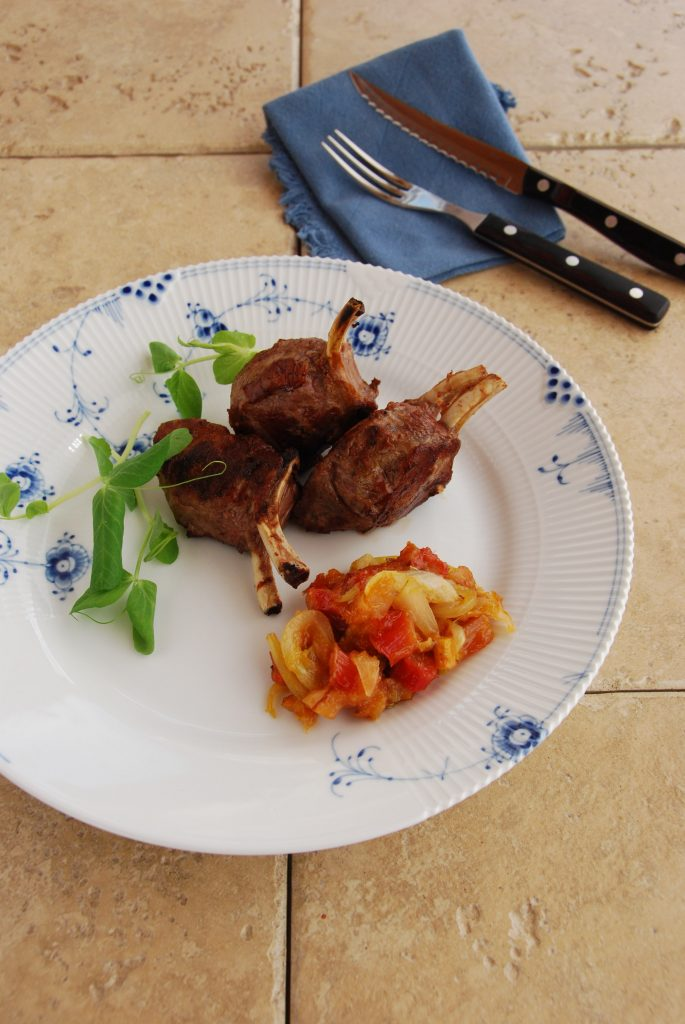 Lamb chops with rhubarb_jpeg (2)